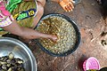 A woman processing honey traditionally in Opi town ,Enugu State.jpg