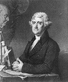 Thomas Jefferson ritratto da Gilbert Stuart