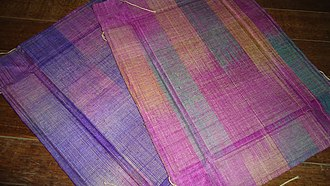 Abacá - Mats made from woven Abacá fibers from the Philippines