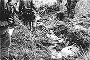 Abandoned children bodies of Phong Nhi massacre