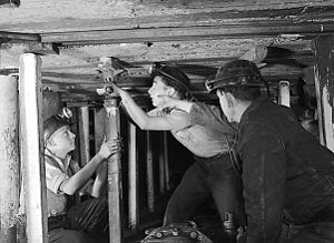 Coal mining in the United Kingdom - Aberaman Miners' Training Centre S.Wales 1951