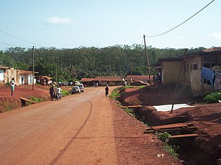 Abong-Mbang Place in East, Cameroon