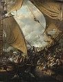 Abordage et prise de la frégate Embuscade par la corvette Bayonnaise en 1798.jpg