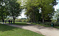 Across park and paths towards west from the Stable Block at Wollaton Park, Nottingham, England.jpg