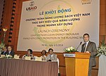 Acting Senior Deputy Assistant Administrator for Asia Jason Foley of USAID speaks at the launching ceremony (14118234272).jpg