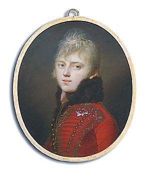 Duke Adam of Württemberg - Portrait by Johann Dominik Bossi, 1805
