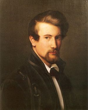 Adolph Tidemand - Self-portrait (1838)