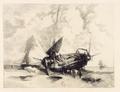 Adolphe Hervier Une barque à marée basse.png