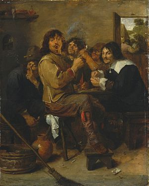 Recreational drug use - Image: Adriaen Brower The Smokers