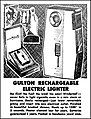 Advertising For The Gulton Rechargeable Electric Lighter In The Akron Ohio Beacon Journal Newspaper, June 13, 1963 (37902070314).jpg