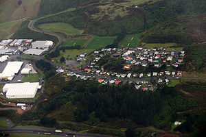 Grenada North - Image: Aerial view of residential area in Grenada North, Wellington, New Zealand