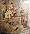 Affresco romano eracle ebbro e onfale.JPG