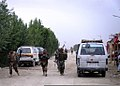 Afghan soldiers patrol a community in the Ghazni province of Afghanistan Aug. 3, 2010, during an air assault operation in support of Operation Shamshir 100803-A-UH219-004.jpg