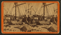 African-American longshore men and bales of cotton on the dock, by Havens. 2.png