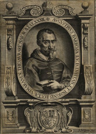 Agostinho Barbosa - Agostinho Barbosa in a 1622 engraving.