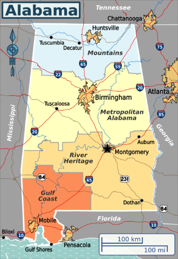 Alabama Travel Guide At Wikivoyage - State stereotypes alabama