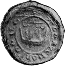 Black and white photo of a mediaeval seal