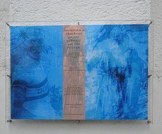 Albert Richter - Commemorative plaque in Rheinlandhalle, Köln-Ehrenfeld (Germany)