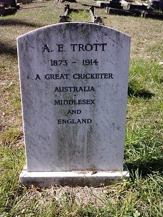 Albert Trott - Image: Albert Trott's Grave