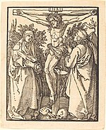 Albrecht Dürer, Christ on the Cross with Mary and Saint John, 1510, NGA 6728.jpg