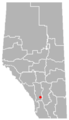 Aldersyde, Alberta Location.png