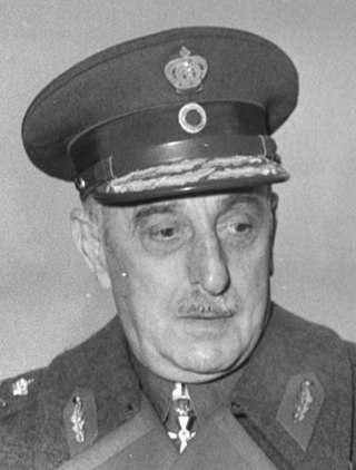 Alexandros Papagos was appointed Commander-in-Chief in early 1949. Alexandros Papagos, 1954.jpg