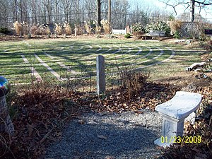 All Saints' Church (Sunderland, Maryland) - Image: All Saints Labyrinth Dec 08