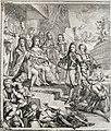 Allegorie op de gebeurtenissen in 1689 met Willem III en Maria op de troon (linker helft), RP-P-OB-67.725.jpg