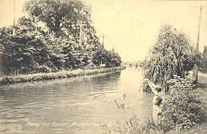 Miami and Erie Canal - Along the canal c.1910