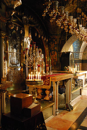 History of the Church of the Holy Sepulchre - Golgotha altar