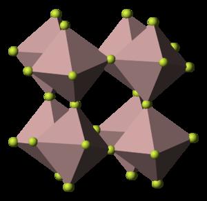 Iron(III) fluoride - Image: Aluminium trifluoride 3D polyhedra