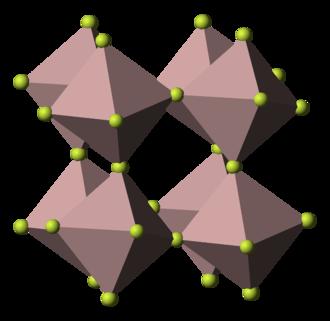 Chromium trifluoride - Image: Aluminium trifluoride 3D polyhedra