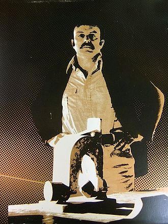 Alvin Lucier - Alvin Lucier on the cover of Music on a Long Thin Wire, 1980