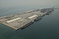 An aerial view of U.S. Navy ships moored in Manama, Bahrain, May 12, 2013, in preparation for International Mine Countermeasures Exercise (IMCMEX) 2013 130512-N-OA702-025.jpg