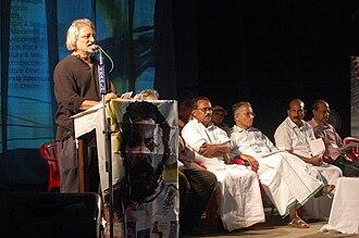 Anand Patwardhan - Anand Patwardhan speaking in ViBGYOR Film Festival 2011