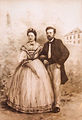 András Mechwart and his wife in 1866.jpg