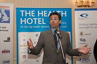 Andy Burnham - Burnham as Health Secretary, speaking at an event during the Labour Party conference in 2009