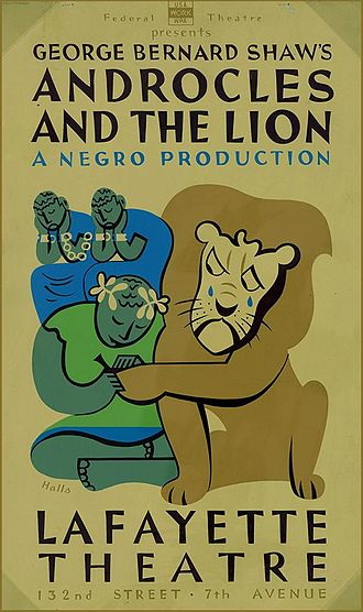 Androcles - Poster for the Federal Theatre Project production of Shaw's Androcles and the Lion (1938)