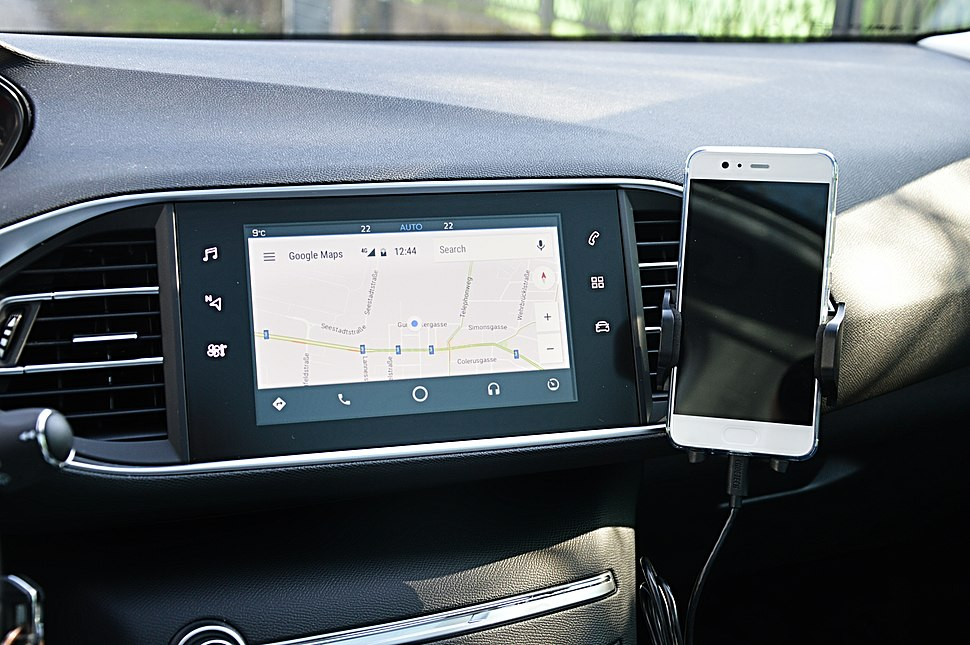 Android Auto in usage