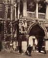 Angle of the Portico of the Ducal Palace, Venice - with carving of 'The Judgment of Solomon'.jpg