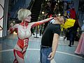 Anime Expo 2015 - Female Titan and Johnny Bravo (20779722204).jpg