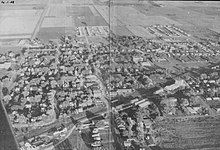 Aerial photo of Ankeny circa 1958 (published in 1959 Ankeny High School yearbook)