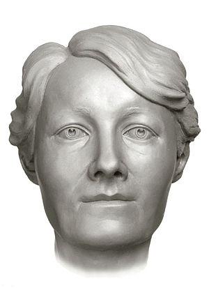 Anna Demidova - A forensic facial reconstruction of Anna Demidova by S.A. Nikitin, 1994.