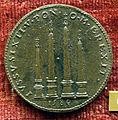 Anonimo, medaglia di domenico fontana architetto, 4 obelischi di roma da lui ricollocati, 1589.JPG