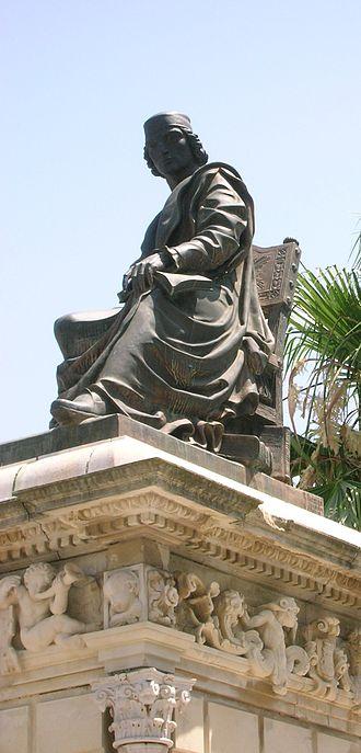 Lebrija - Statue of Elio Antonio de Lebrija