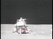 Delwedd:Apollo 15 liftoff from the Moon.ogv