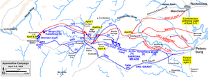 Battle of Appomattox Station - Lee's retreat in the Appomattox Campaign, April 2–9, 1865.