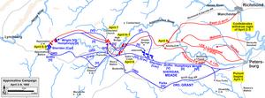 Battle of Appomattox Station - Lee's retreat in the Appomattox Campaign, April 2–9, 1865.