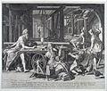Aquila en zijn vrouw Priscillia, St.Paulus te Corinthe bij de tentmaker.jpg