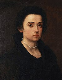 Arcangela Paladini - Self-portrait in Uffizi Gallery.jpg